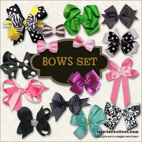 Scrap-kit - Bows Set #1