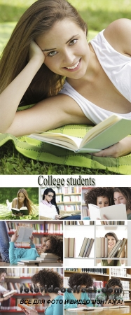 Stock Photo: College students