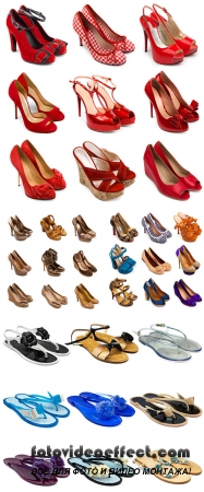 Stock Photo: Multicolored female shoes