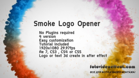 Smoke Logo Opener - Project for After Effects (Videohive)