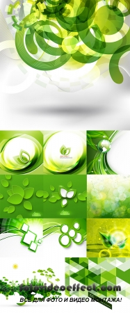 Stock: Modern geometrical abstract green background