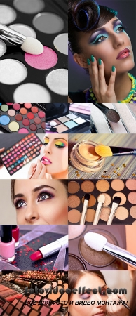 Stock Photo: Colorful lipgloss palette, make-up
