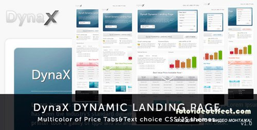 Themeforest - DynaX - Landing Page - RIP