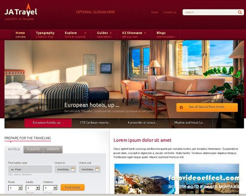 Joomlart JA Travel J1.5 quickstart - June 2011 - RETAIL