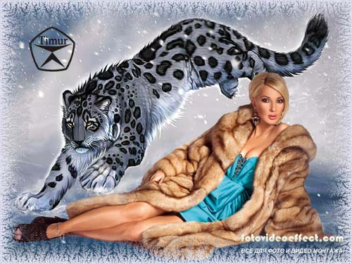 Эта картинка имеет номер на сайте 23408 и теги ирбис, горы, луна, снег, рисунок, снежный барс, snow leopard