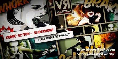 Comic Action - Slideshow - Projects for After Effects (Videohive)