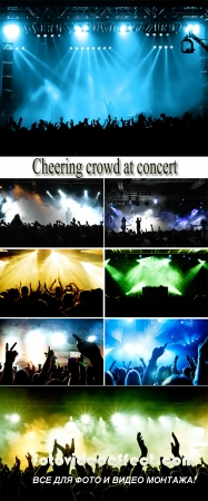 Stock Photo: Cheering crowd at concert 2
