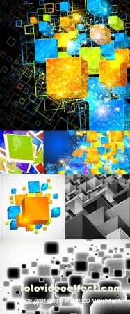 Stock: 3D box abstract decorative background