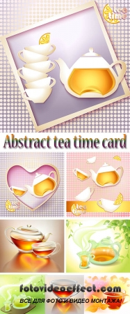 Stock: Abstract tea time card