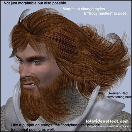 Michael's Morphing Fantasy Beard w/Hair